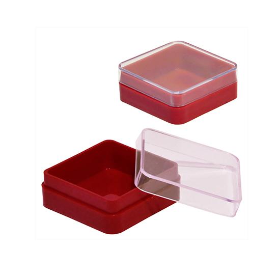 Коробка под значки и ювелирную продукцию (красная 38х38х15)