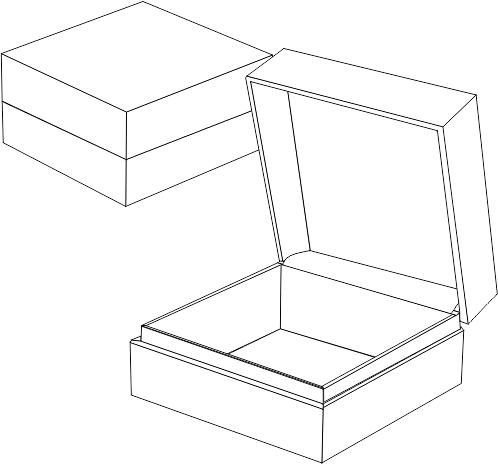 коробка с откидной крышкой на